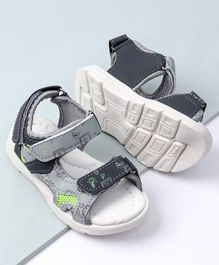 Cute Walk by Babyhug Sandals Multiprint - Grey