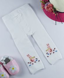 Kidofash Full Length Rabbit Pattern Stockings - White