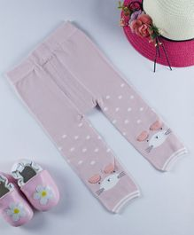 Kidofash Bunny Pattern Stockings - Pink