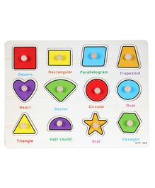Baybee Wooden Geometric Puzzle - Multicolour