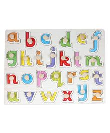 Baybee Educational Wooden Small Alphabets Letter Tray - Multicolour