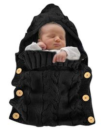 Babymoon Organic Knitted New Born Baby Sleeping Bag - Black