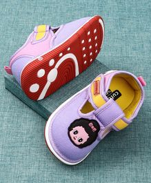 Cute Walk by Babyhug Canvas Shoes Doll Patch - Purple