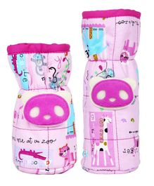 1st Step Bottle Covers Animal Applique Pink Pack of 2 - Fits Upto 250 ml & 125 ml Each