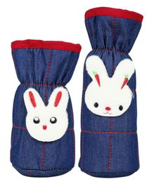 1st Step Bottle Covers Bunny Applique Blue Red Pack of 2 - Fits Upto 250 ml & 125 ml Each