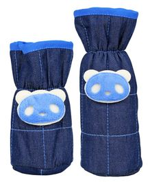 1st Step Bottle Covers Bear Applique Blue Pack of 2 - Fits Upto 250 ml & 125 ml Each