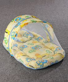 Zoe Baby Mattress With Mosquito Net & Pillow Animal Print - Yellow