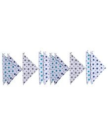 Haus & Kinder Muslin Wash Cloths Twinkle Collection Multicolour - Pack of 10