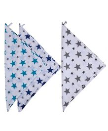 Haus & Kinder Muslin Wash Cloths Twinkle Collection Multicolour - Pack of 3