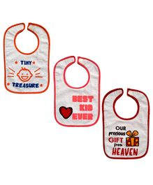 Meukebaby Printed Baby Bib Pack of 3 - Multicolor