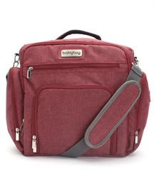 Babyhug Multipurpose Backpack Style Diaper Bag - Maroon