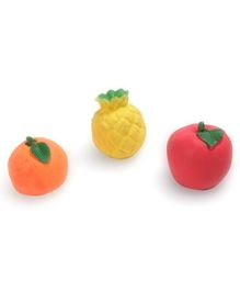 Kreative Kids Squeaky Fruits Shape Bath Toys Yellow Red Orange - Pack Of 3