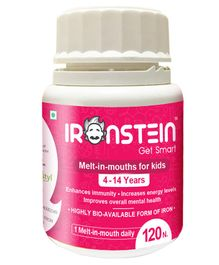 Ironstein by Hlthistyl Iron & Multivitamin melt-in-mouth Strawberry - 120 Numbers