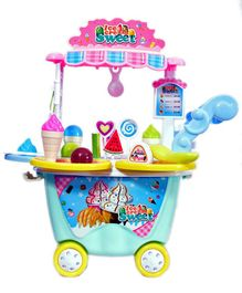 Skylofts Ice Cream Cart Pretend Play Toys for Kids with Ice Cream Candy Shop