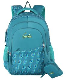 Genie Allure  Backpack Teal Color - 18 Inch