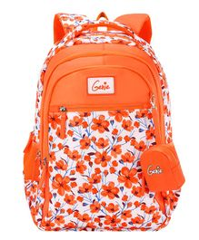 Genie Camellia Backpack Orange - 15 Inch