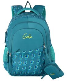Genie Allure Backpack Teal Color - 16 Inch