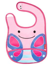 Skiphop Zoo Tuck-Away Bib Butterfly Design - Multicolour