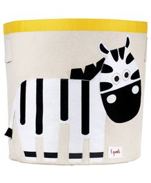 3 Sprouts Storage Bin Zebra Patch - Black And White