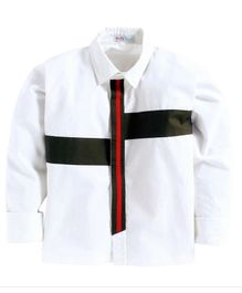 Kids Clan Front Tape Full Sleeves Shirt - White