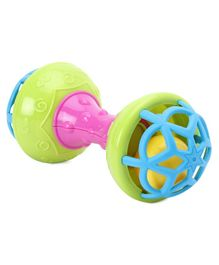 Dumbell Shaped Rattle Toy - Multicolour
