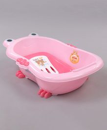 Baby Bath Tub With Bath Tray Bear Print - Pink