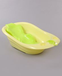 Bath Tub With Bath Tray Bear Print - Green