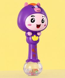 Single Stick Musical Rattle Toy - Purple