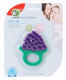 Berry Shaped Baby Teether - Green Purple