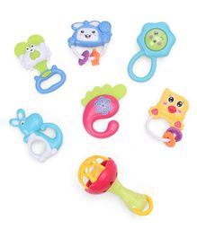 Mini Rattle Toys Multicolor - Pack Of 7