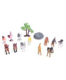 Animal World Figurines Set Pack of 14 - Multicolor