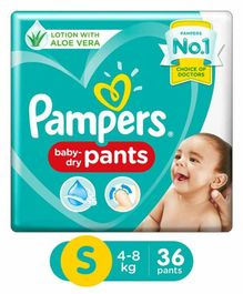 Pampers Pant Style Diapers Small Size - 36 Pieces