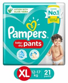 Pampers Pant Style Diapers Extra Large Size - 21 Pieces