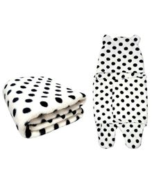 Brandonn Flannel Blanket & Sleeping Bag Pack Of 2 - White