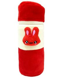Brandonn Velvet Feeding Bottle Cover Fits 250 ml Bottle - Red