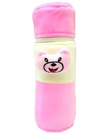Brandonn Velvet Feeding Bottle Cover Fits 250 ml Bottle - Pink