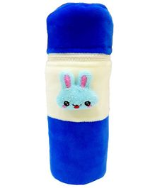 Brandonn Velvet Feeding Bottle Cover Fits 250 ml Bottle - Blue