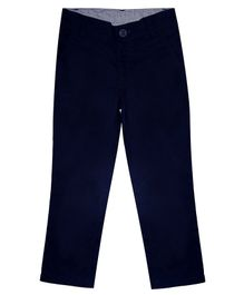 Campana Essential Solid Full Length Trousers - Navy Blue