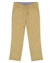 Campana Essential Solid Full Length Trousers - Beige