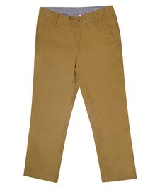 Campana Essential Solid Full Length Trousers - Brown