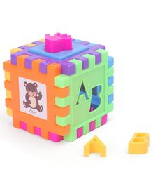 3D Interlocking Block Puzzle - Multicolor