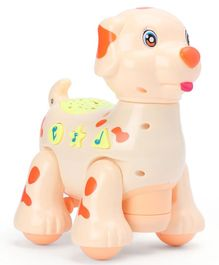 Musical Projector Cartoon Dog Toy - Peach