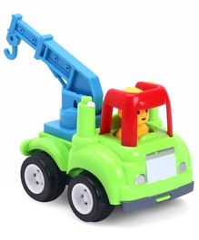 Friction Powered Crane Truck - Green