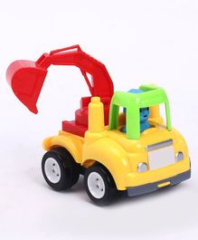 Friction Powered Bulldozer Truck - Yellow