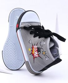 Cute Walk by Babyhug Canvas Shoes - Grey White