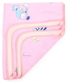 Diaper Changing Baby Mat Animal  Print - Pink