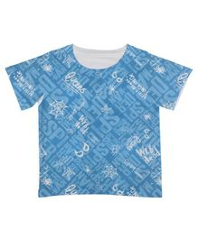Marvel By Crossroads Spider-Man Print Half Sleeves T-Shirt - Blue