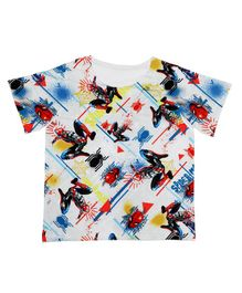 Marvel By Crossroads Spider-Man Print Half Sleeves T-Shirt - Multicolor
