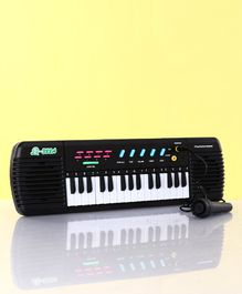 Electronic Keyboard With Microphone - Black