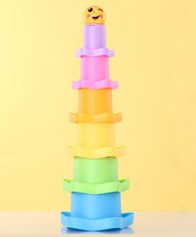Children's Stacking Cups Set Of 7 - Multicolour